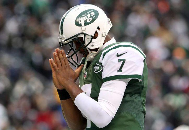 Geno Smith, quarterback de los Jets de Nueva York después de una anotación. (Agencias)
