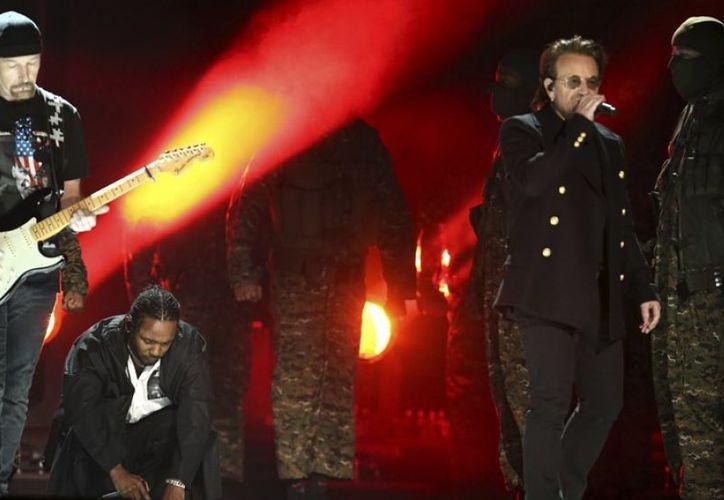 Kendrick Lamar y U2 estuvieron en el Grammy 2018. (elcomercio.pe)