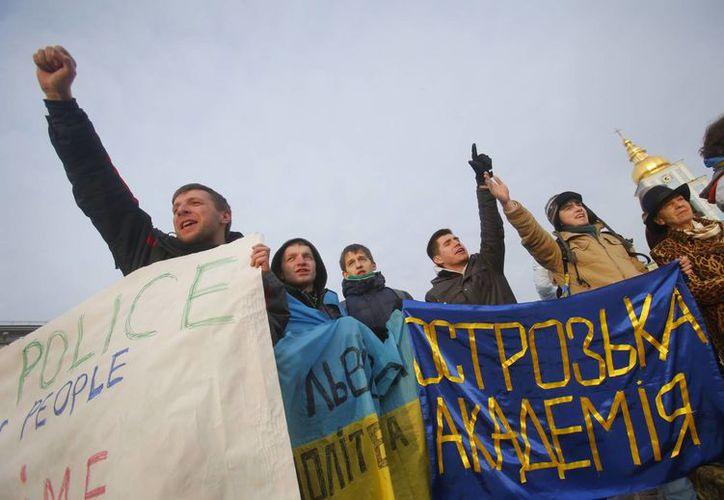 Las protestas en Ucrania llevan más de una semana. (Agencias)