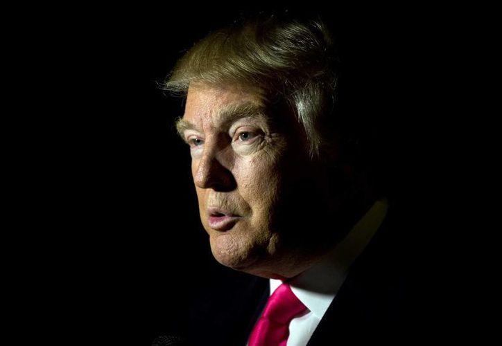 Proponen al precandidato republicano a la presidencia de Estados Unidos, Donald Trump, por 'su ideología de paz por la fuerza, utilizada como arma de disuasión contra el islam radical, el EI, contra Irán nuclear y la China comunista'. (AP)