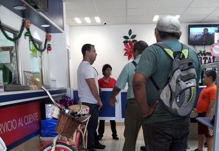 El presunto ladrón fue atrapado cuando ingresó a un negocio para empeñar la bicicleta robada. (Redacción/SIPSE)