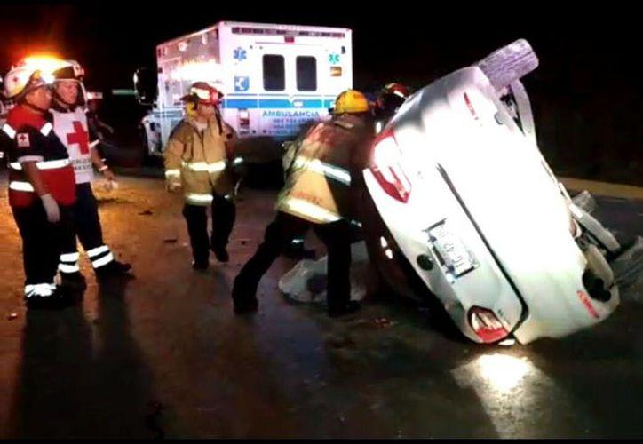 En el accidente resultaron heridas seis personas y una falleció. (Foto: Redacción/SIPSE)