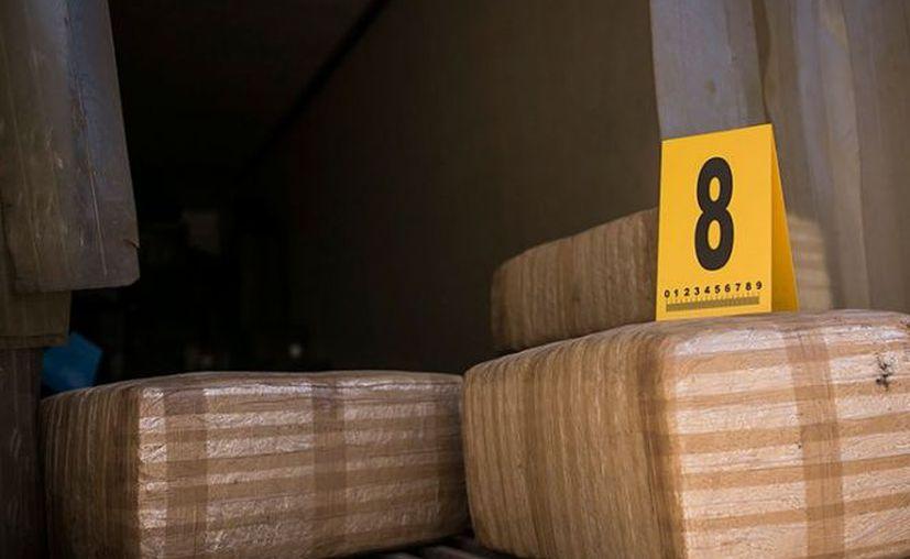 La Policía Federal Ministerial cateó un domicilio en el municipio de Guadalupe, Nuevo León, en donde decomisó  dos toneladas de marihuana. (Cuartoscuro).