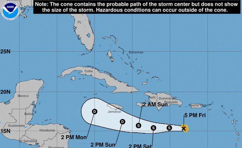 Se espera que Isaac pierda intensidad en sus vientos durante las próximas horas. (Noaa)