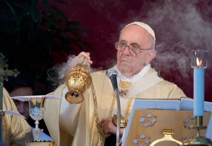 El Papa Francisco (foto) llegará a México el 12 de febrero de 2016, anunció este domingo el arzobispo primado de México, Norberto Rivera. (AP)