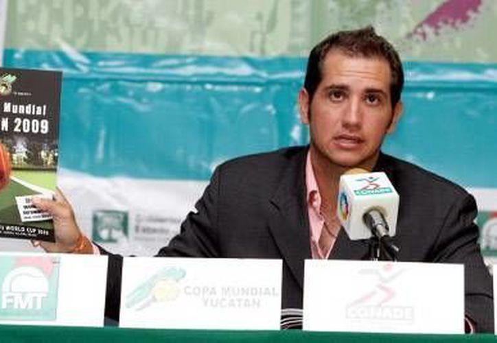 Jorge Haro dio avances de los preparativos para la competencia. (SIPSE)