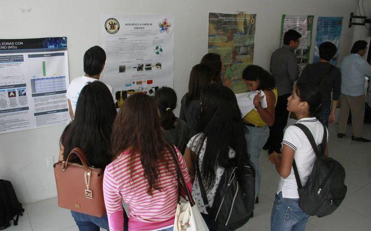 El estudio fue parte de la exposición en la Semana Cultura Ambiental de la Universidad Politécnica. (Tomás Álvarez/SIPSE)
