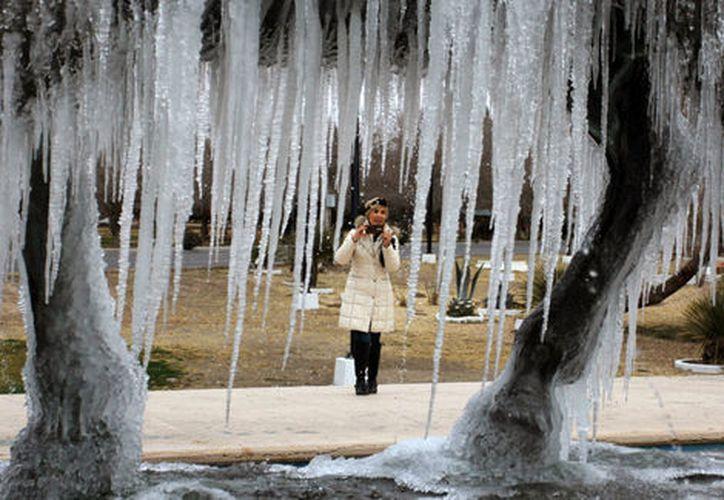 Las nevadas y el ambiente muy frío va a persistir hasta febrero. (AFP)