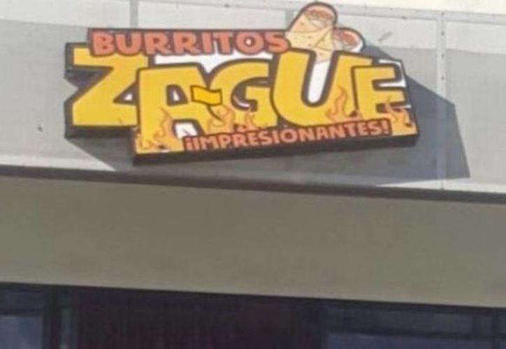 Un pequeño restaurante recordó el escándalo de Zague, comentarista televisivo y nombró así el lugar. (Vanguardia MX)