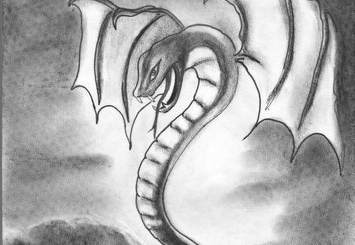 Las serpiente gigantes tenían alas y su cuerpo estaba recubierto por plumas y al final remataba con una filosa garra. (Jorge Moreno/SIPSE)