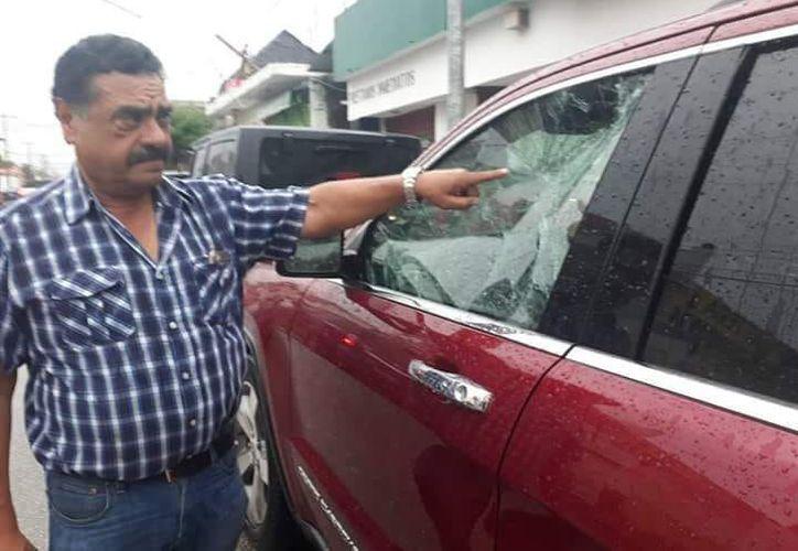 Intimidación política, así traduce el atentado Marciano Toledo Sánchez. (Foto: SIPSE)