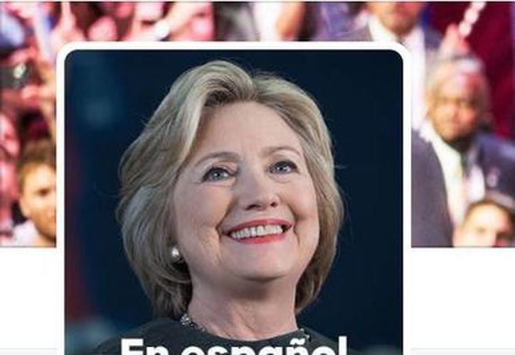 La cuenta de Hillary Clinton en idioma español es @Hillary-esp. (Twitter.com)