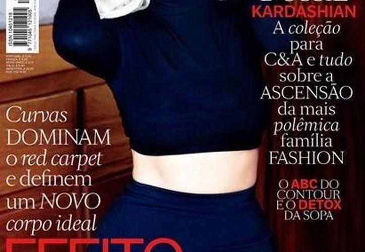 Kim Kardashian posa para la revista Vogue Brasil, en un intento por imitar a Marilyn Monroe. (larepublica.pe)