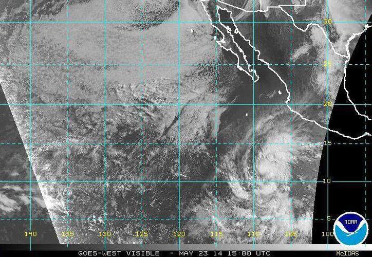 Por ahora la tormenta tropical Amanda no representa una amenaza en tierra. (ssd.noaa.gov)