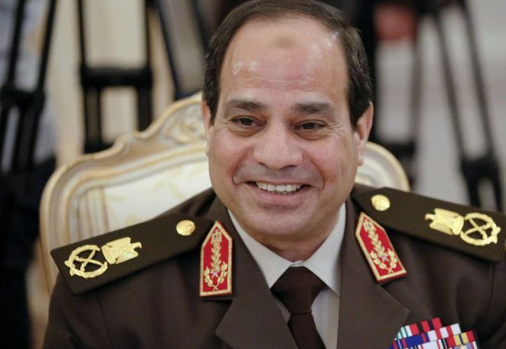 El ex mariscal Abdel-Fattah el-Sissi durante una conferencia en Moscú, Rusia, en febrero de este año. (Foto: AP)