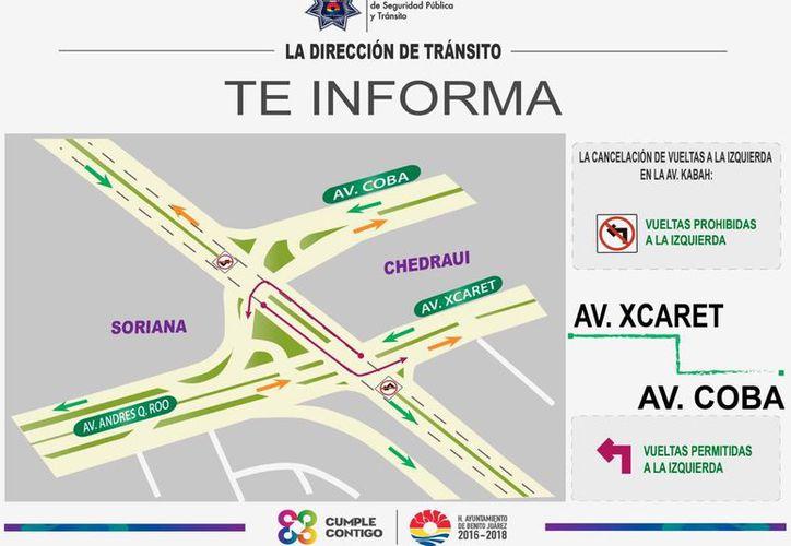 La dirección general de Tránsito dio a conocer cambios en la circulación vial. (Cortesía/SIPSE)