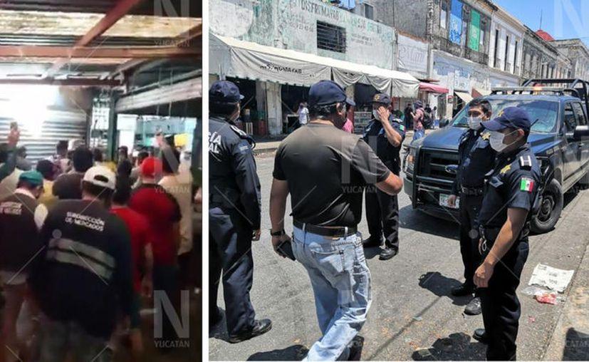 Locatarios protestan contra medida. (Novedades Yucatán)