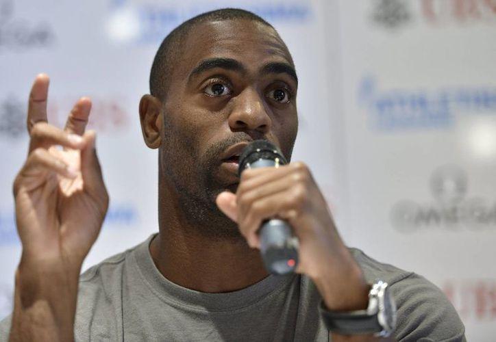 El récord de Gay (foto) en el hectómetro es de 9.69 segundos, y el de Bolt es 9.58. (Agencias)