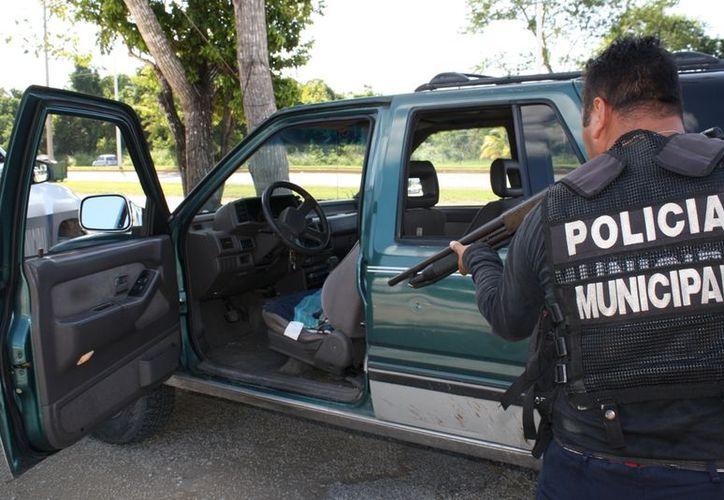 La operatividad de los 320 elementos de la corporación policíaca se reconoció como de las mejores a nivel nacional. (Enrique Mena/SIPSE)