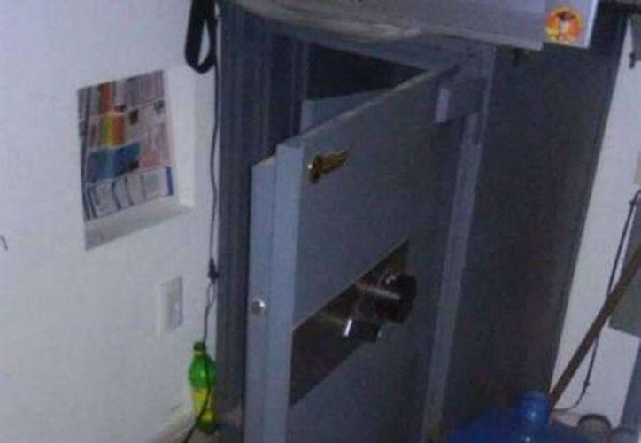 La caja fuerte estaba en el cuarto de servicio de una gasolinera en construcción. (Reforma/Jonathan Compton)