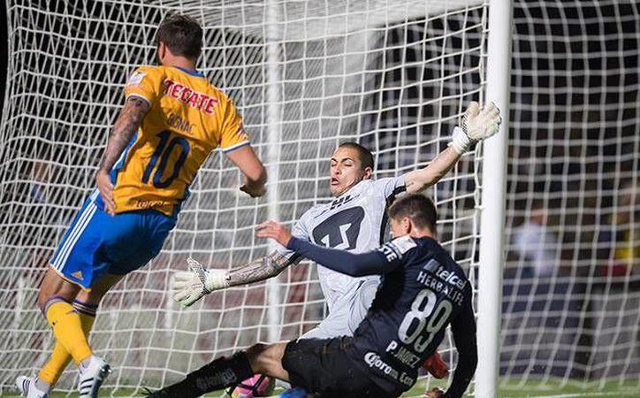 Tigres de UANL se convirtió este miércoles en uno de los cuatro equipos clasificados a semifinales de Concachampions. Otros dos son Dallas y Pachuca, y el cuarto aún es un interrogante. (mexsport.com)