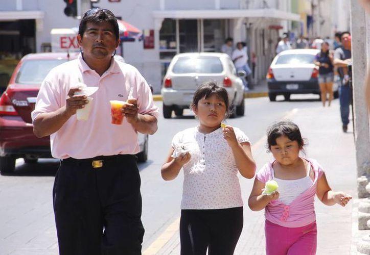 El calor del mediodía obliga a la gente a consumir productos helados. (Juan Albornoz/SIPSE