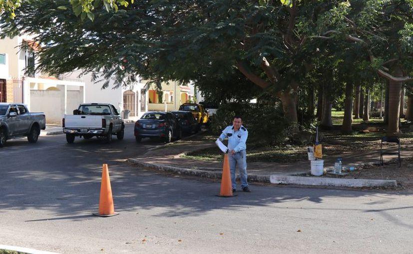 En el predio 603 de la calle 19A diagonal con 68 del fraccionamiento Gran Santa Fe, al poniente de la ciudad, un joven se quitó la vida. (Foto: Novedades Yucatán)