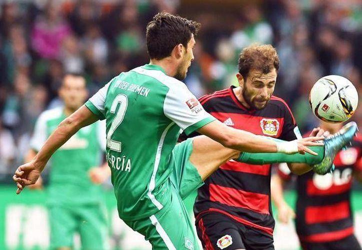 Este sábado, el Bayer Leverkusen ganó en su visita al Werder Bremen, 0-3, para llegar a 12 unidades en la séptima fecha de la Bundesliga. (EFE)