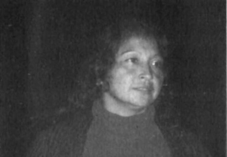 Última foto en vida de Leticia González Burgos (qepd) tomada durante la investigación en Tekal de Venegas. (Jorge Moreno/SIPSE)