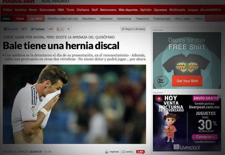 El diario español que cita a fuentes del equipo merengue. (Foto: Marca.com)