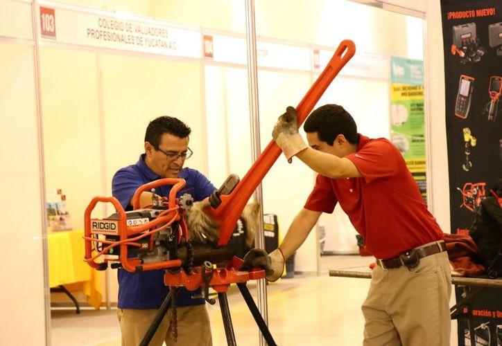 Aquí podrás encontrar lo último en tecnología y aplicaciones de la construcción. (Fotos: Jorge Acosta/Milenio Novedades)