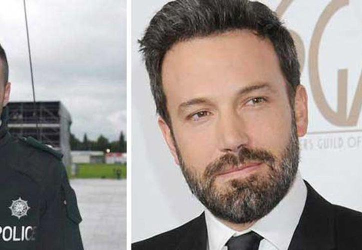 Bobby Singleton (izquierda) causa sensación en internet por su gran parecido con el actor Ben Affleck. (pulsoslp.com.mx)