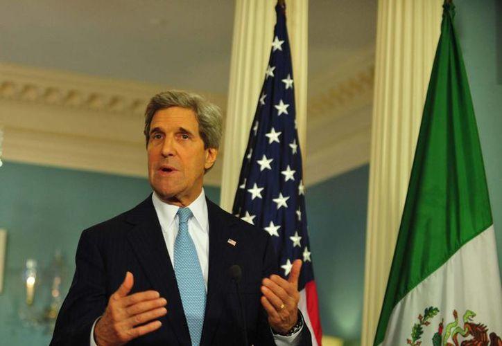 """""""Vamos a continuar con una estrecha cooperación de seguridad, asegurando el respeto por los derechos humanos y los derechos civiles"""", señaló John Kerry. (Notimex)"""
