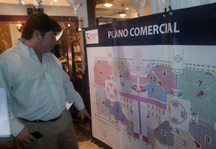 Mapa del complejo comercial del Dragon Mart. (Jesús Tijerina/SIPSE)