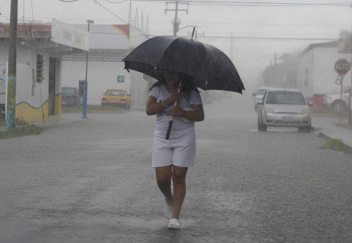La posibilidad de lluvia se mantiene latente, por lo que se recomienda llevar paraguas en mano. (Ernesto Neveu/SIPSE)