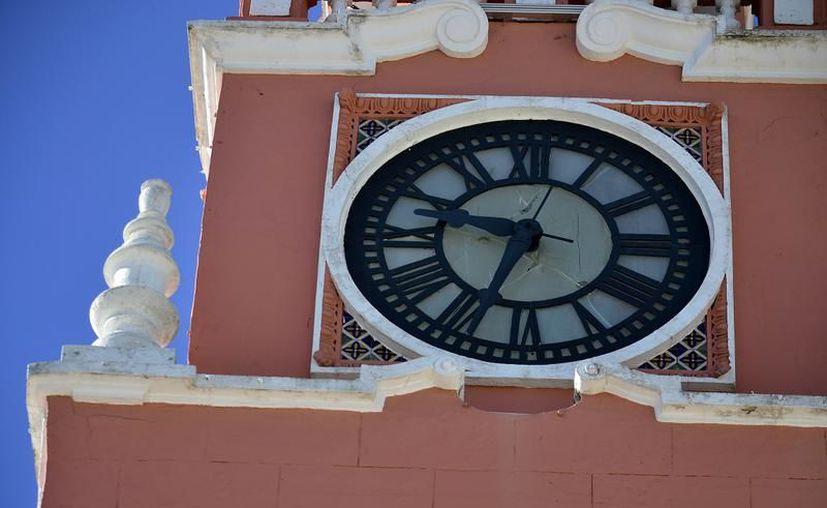 El Reloj volvió a sonar en el 477 aniversario de Mérida. (Foto: Novedades Yucatán)