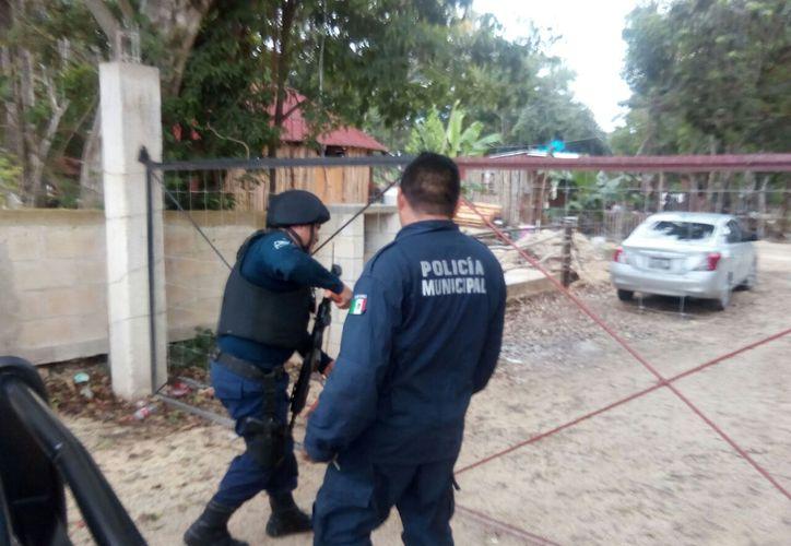 Un total de siete personas fueron detenidas en distintas calles de Tulum. (Foto: Redacción)