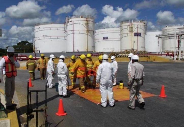 Mediante el plan de simulacros, Pemex tiene como objetivo mantener la meta de cero accidentes en Yucatán. (SIPSE)
