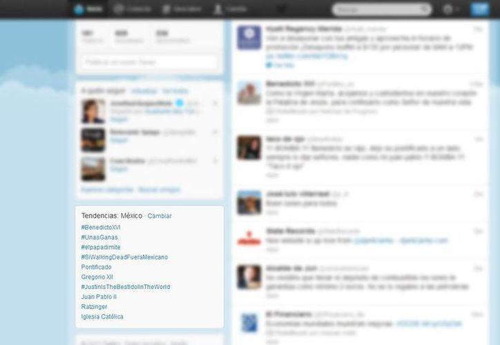 Casi inmediatamente después de conocerse la renuncia de Benedicto XVI su nombre fue tendencia en Twitter. (SIPSE)