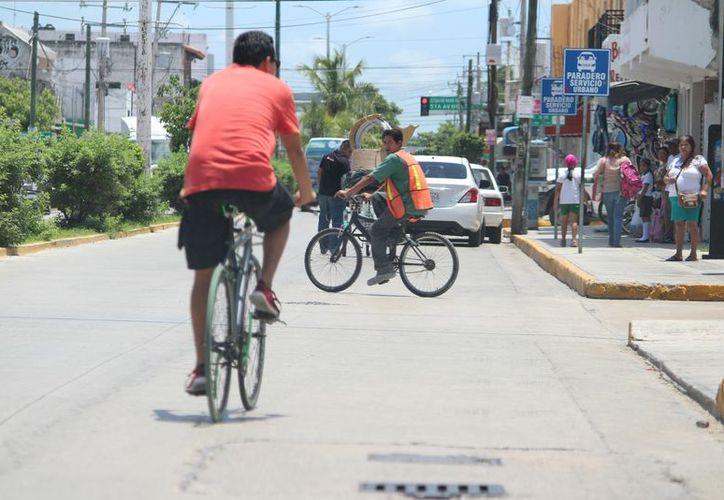 Estacionamientos de bicicletas serán instalados en el centro de Playa del Carmen. (Adrián Barreto/SIPSE)