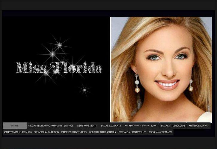 Hasta ayer continuaba el rostro de Elizabeth Fechtel en la página oficial de Miss Florida. (missflorida.org)