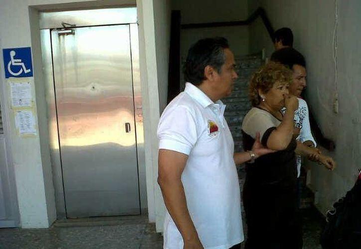 El ascensor no funciona prácticamente desde el inicio de la presente administración. (Juan Palma/SIPSE)