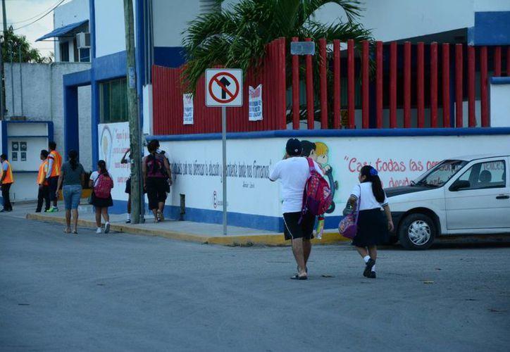 Regresarán a las aulas más de 115 mil alumnos de educación básica pública en Benito Juárez. (Victoria González/SIPSE)