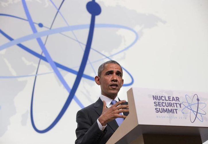 El presidente Obama dijo que es un 'logro sorprendente' la eliminación de material nuclear que pudiera caer en manos de terroristas. (AP)
