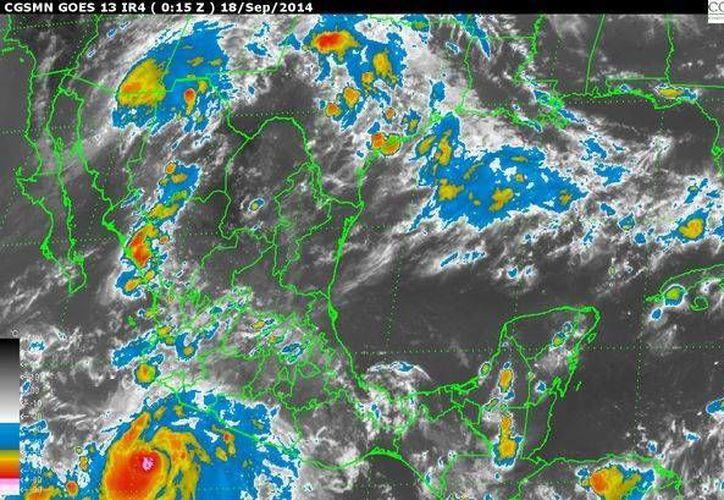 Las alertas que emita la Conagua serán actualizaciones urgentes con información crítica. (Imagen de satélite: www.conagua.gob)