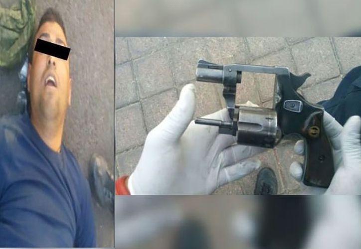 Los agentes encontraron un arma calibre 38 especial con cuatro cartuchos percutidos. (Foto:  Chilango Times)