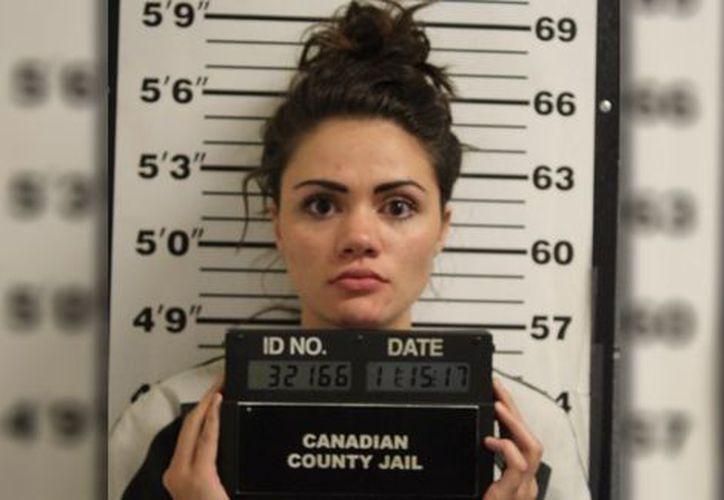 Hunter Day, profesora arrestada por el abuso contra un estudiante en Oklahoma, EU. (Foto: Canadian County Jail)