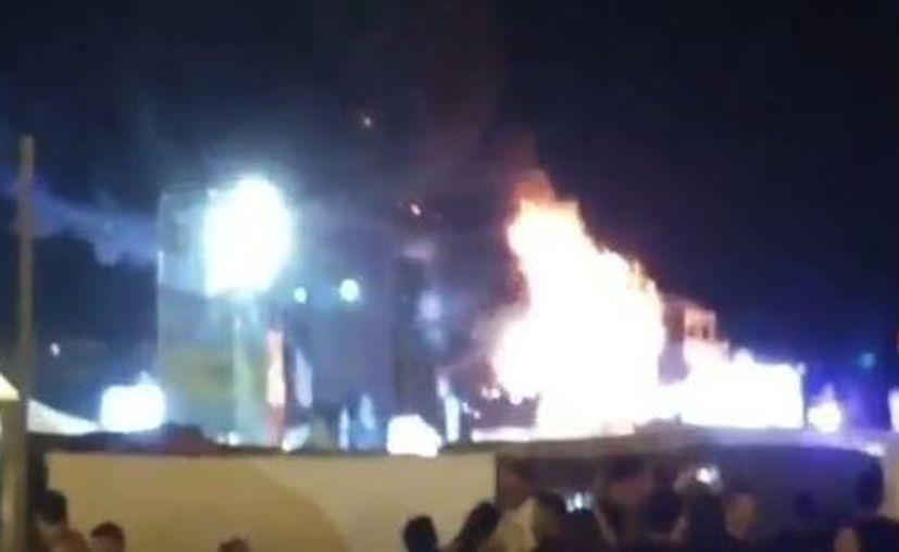 El fuego se ha generado en el escenario principal. (Foto: Twitter)