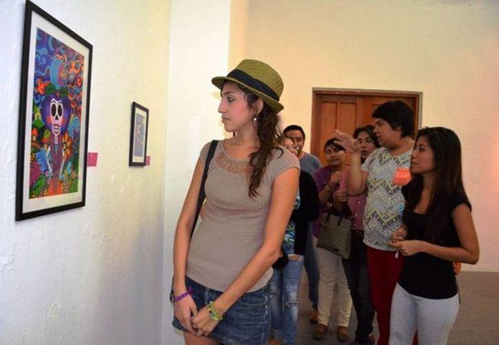 El recorrido constó de cuatro salas con diferentes obras de arte. (Redacción/SIPSE)