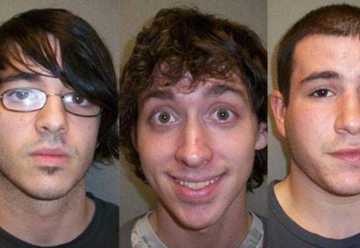 Los ladrones fueron identificados como Jonathan Boudreau, Shawn Mason and Shane McCaffrey (Gardner PD Photos)